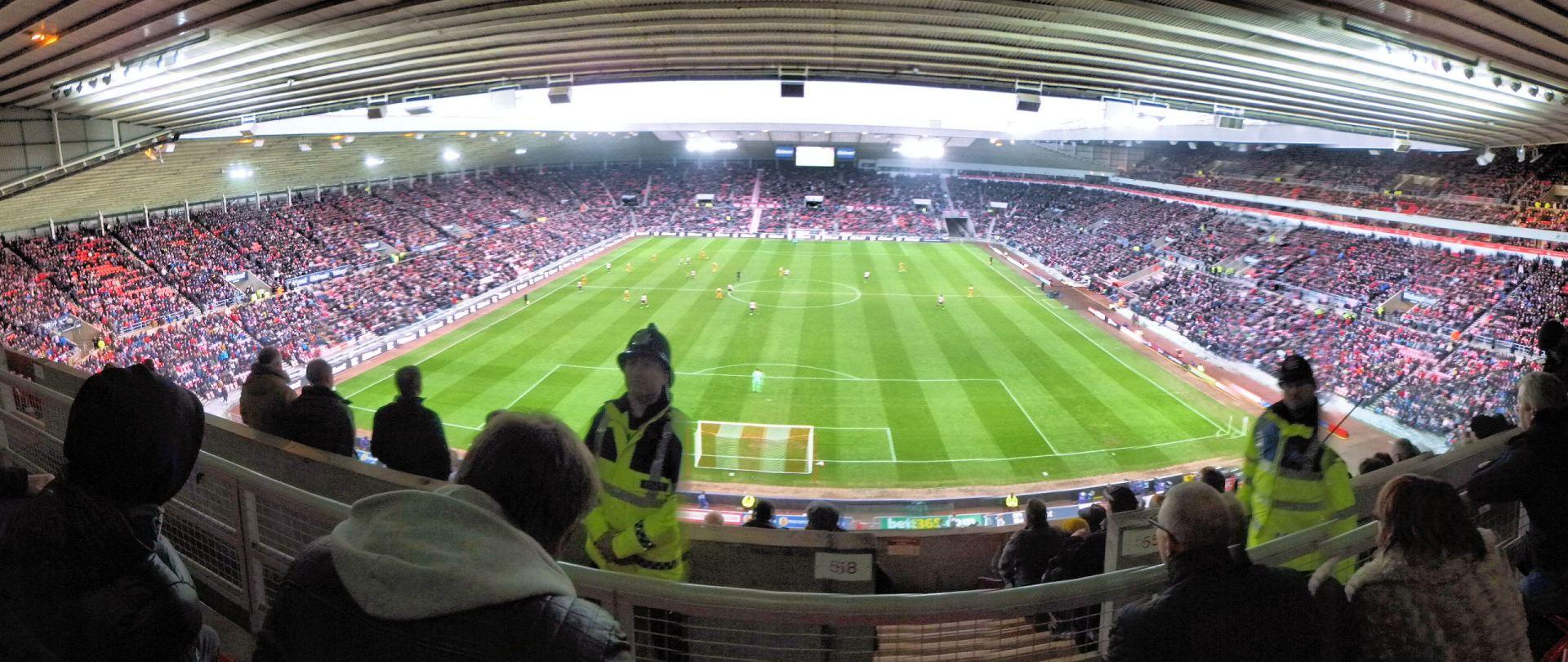 Una panoramica dello Stadium of Light di Sunderland
