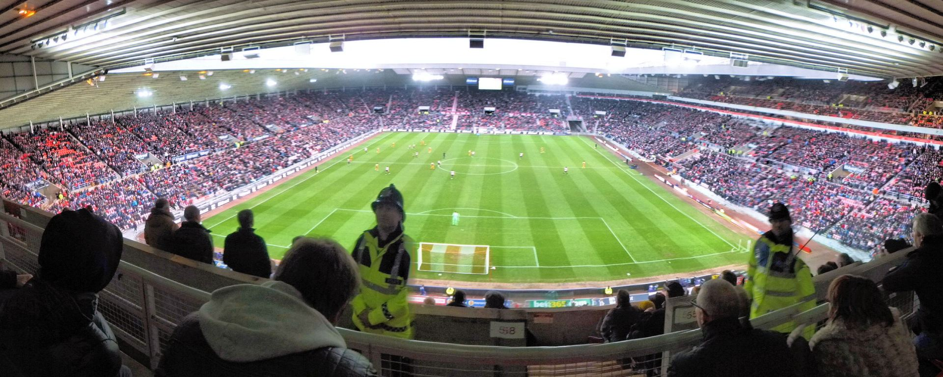 Una panoramica dello Stadium of Light di Sunderland