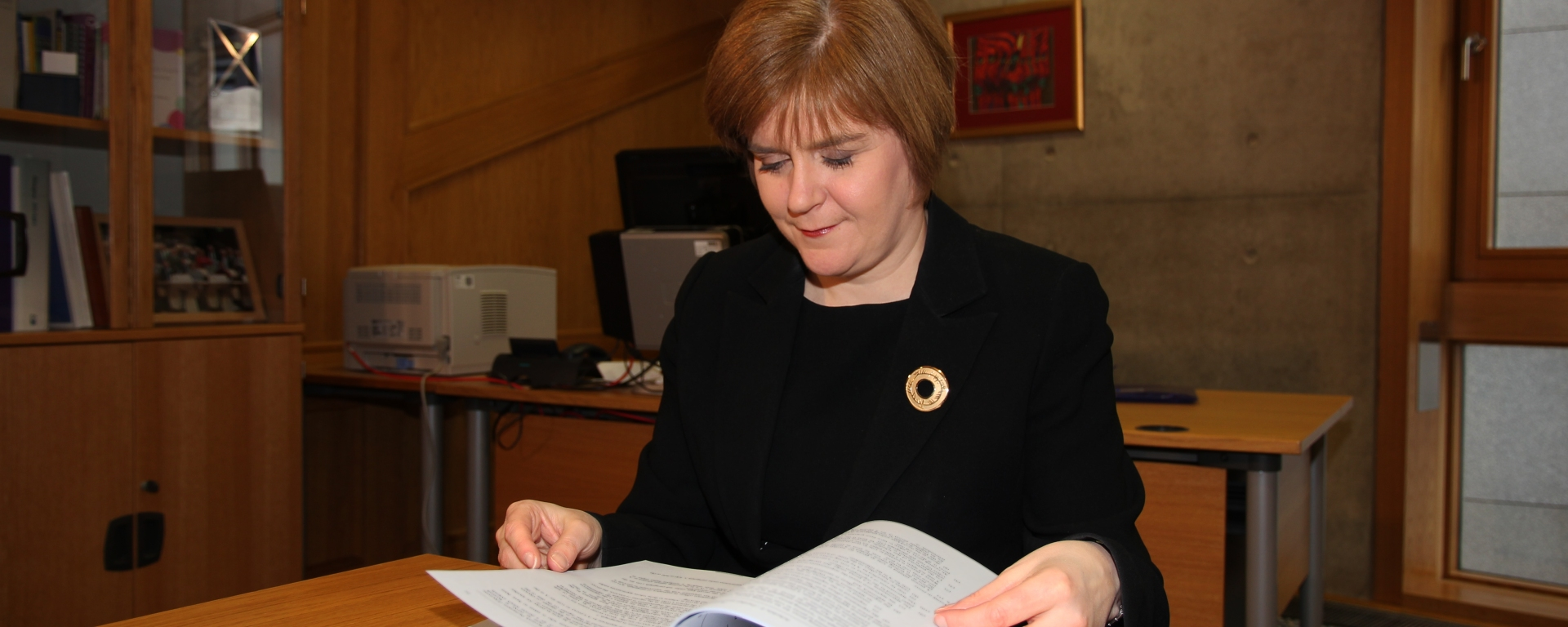 Il Primo Ministro scozzese, Nicola Sturgeon